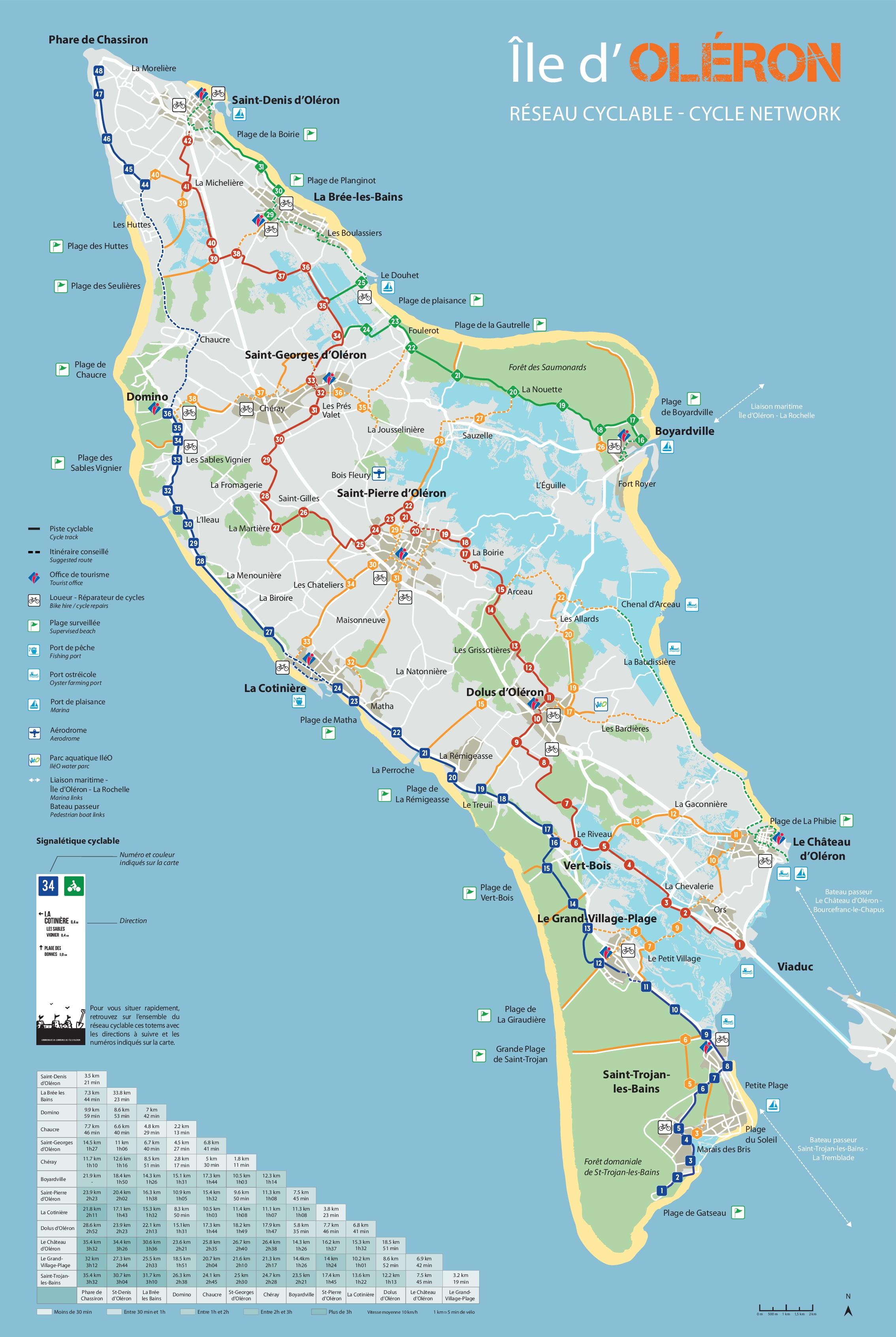 carte ile d oleron pdf Circuits des pistes cyclables de l'île d'Oléron