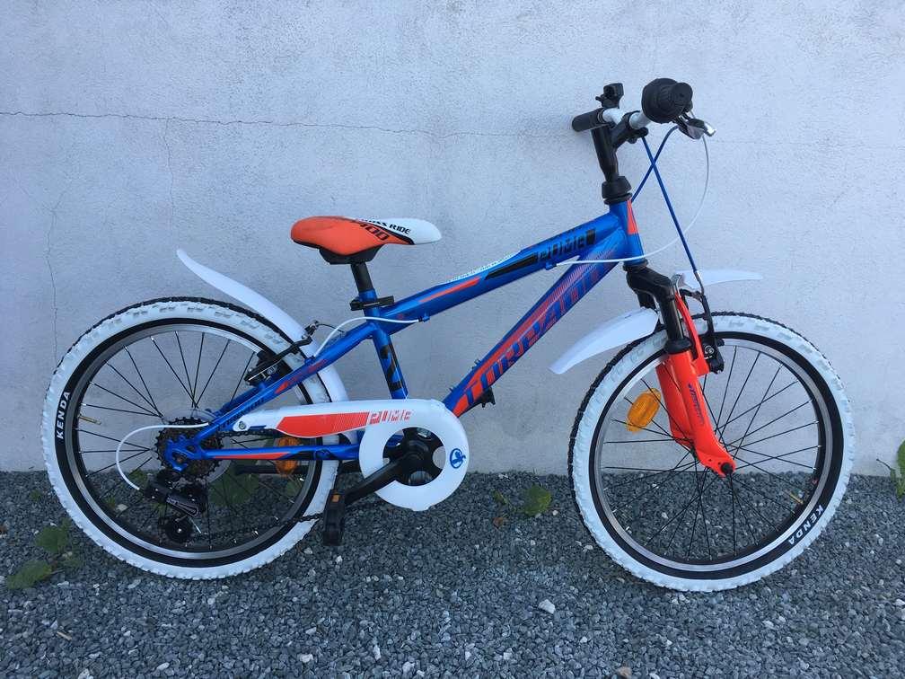 Vélo 20 pouces garçon bleu
